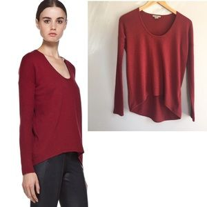 Helmut Lang Red Soft Sweater cashmere blend s